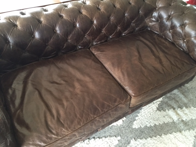 Charmant Chesterfield Cigar Club Tufted Leather Sofa For Sale   Image 7 Of 9