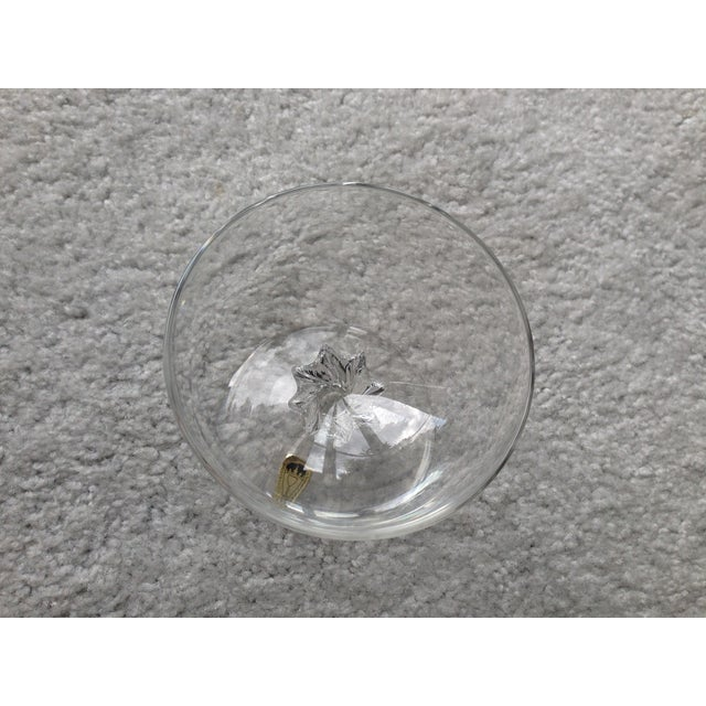 Handmade Crystal Glass Dish For Sale - Image 4 of 9