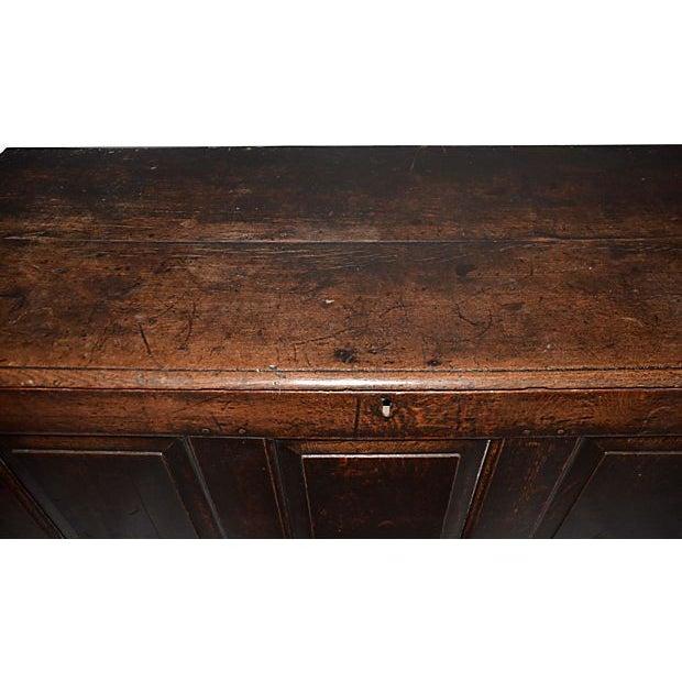18th C English Oak Wood Chest - Image 5 of 5