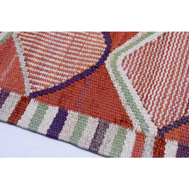 Vintage Barbro Nilsson Flat-Weave Swedish Carpet for Marta Maas-Fjetterström For Sale In Los Angeles - Image 6 of 10