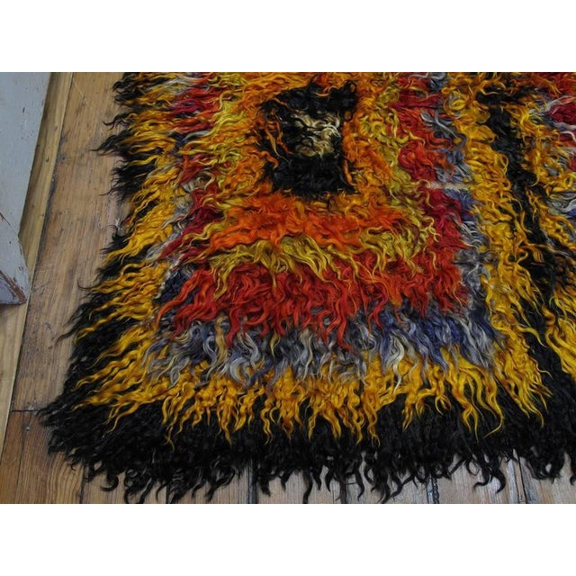 Four Squares, Angora Tulu Rug For Sale - Image 9 of 10