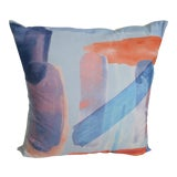 Image of Contemporary West Elm Watercolors Decorative Pillow For Sale