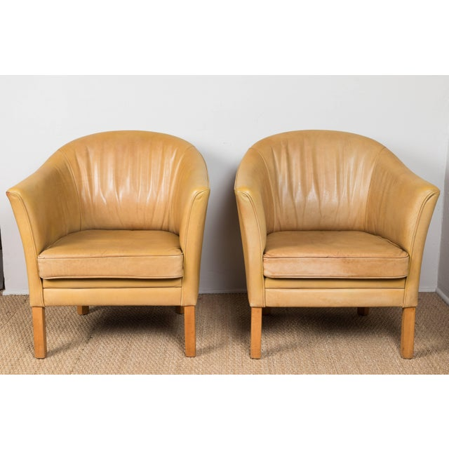 Mid-Century Modern Vintage Leather Occasional Chairs (Pair Available) For Sale - Image 3 of 11