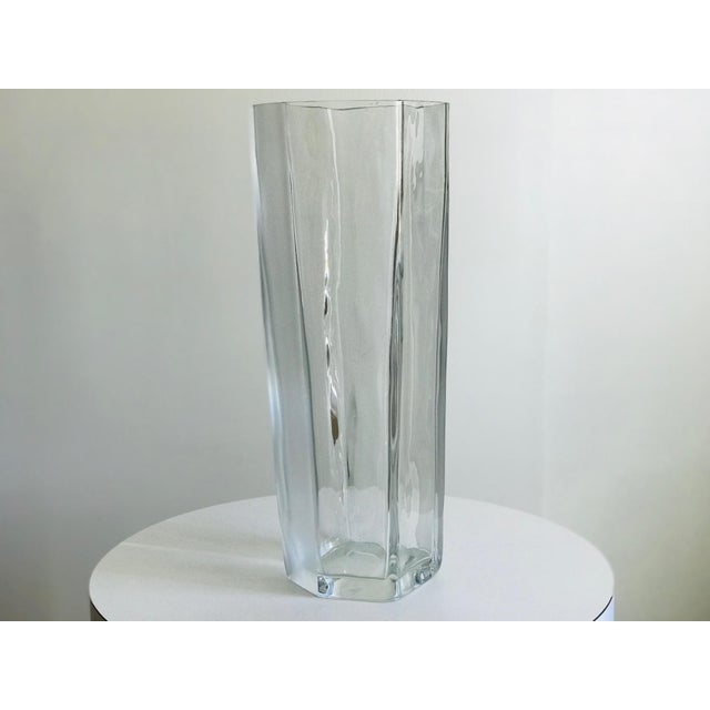 Glass Carlo Moretti Italian Blown Glass Vase For Sale - Image 7 of 8