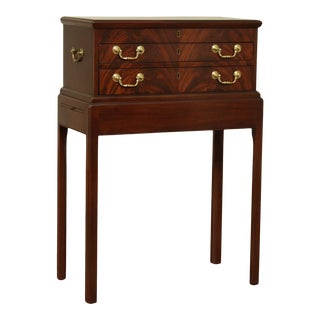 Kittinger Williamsburg Adaptation Mahogany Chippendale Style Silver Chest For Sale