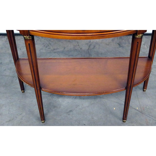 Empire Directoire Style Marble Top Demi-Lune Console Table For Sale - Image 3 of 9