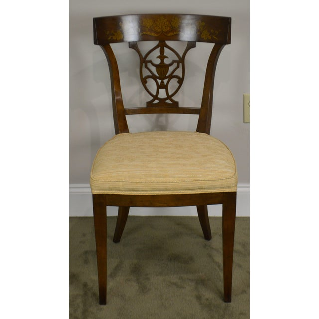 Nahon Custom Quality Set of 8 Regency Style Mahogany Dining Chairs For Sale - Image 11 of 13