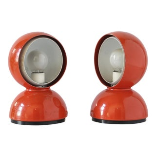 "Pair of ""Eclipse"" table lamps by Vico Magistretti. circa 1966."