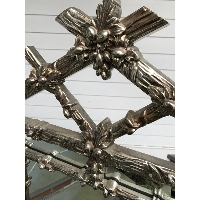 Asian Gampel Stoll Silver Faux Bois Mirror For Sale - Image 3 of 8