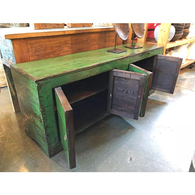 Green Emerald Green Mongolian Sideboard For Sale - Image 8 of 8