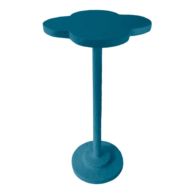 Atrium Accent Table in Blue Danube For Sale