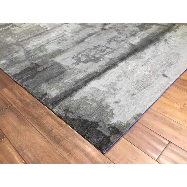 Transitional and Modern Rugs - Bunker Wall Rug (Smoke - 8 X 10) For Sale - Image 4 of 6