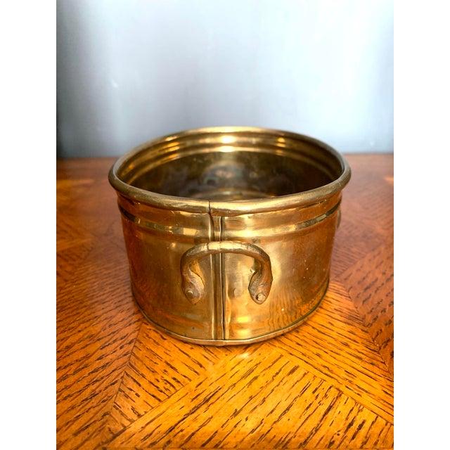 Hollywood Regency Vintage Brass Scalloped Shell Planter For Sale - Image 3 of 11