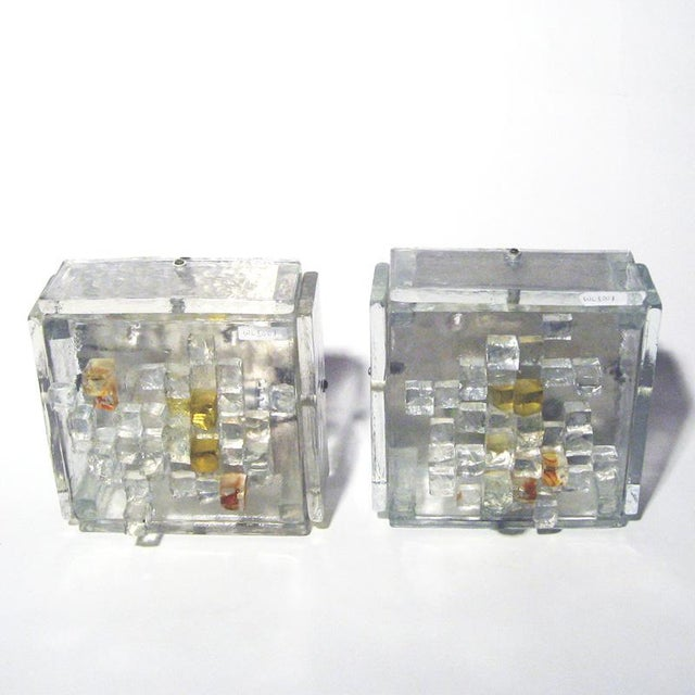 Poliarte Poliarte Cut Glass Wall Lights - A Pair For Sale - Image 4 of 4