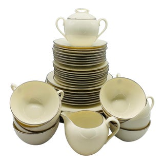 Lenox Olympia Platinum Dinnerware - 38 Piece Set For Sale