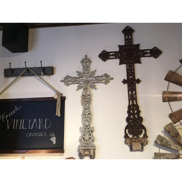 Antique French Vineyard Cross For Sale - Image 5 of 6
