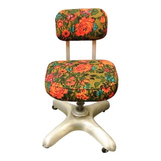Steel Deco Floral Office Chair