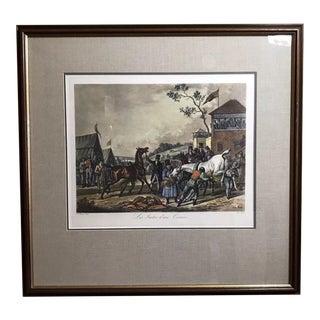 19th Century Carle Vernet Antique Lithograph Print Suites d'Ure Course