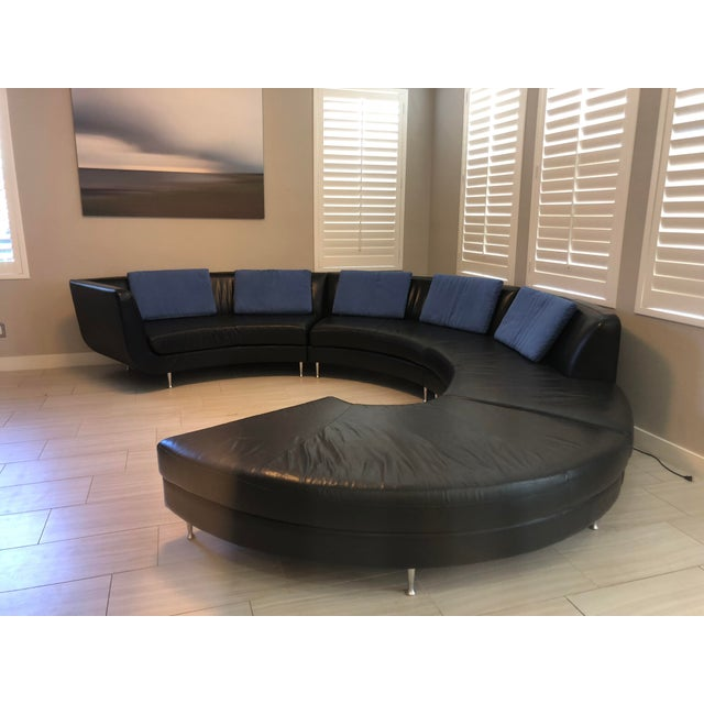 Contemporary American Leather Menlo Park Sectional For Sale In San Diego - Image 6 of 13