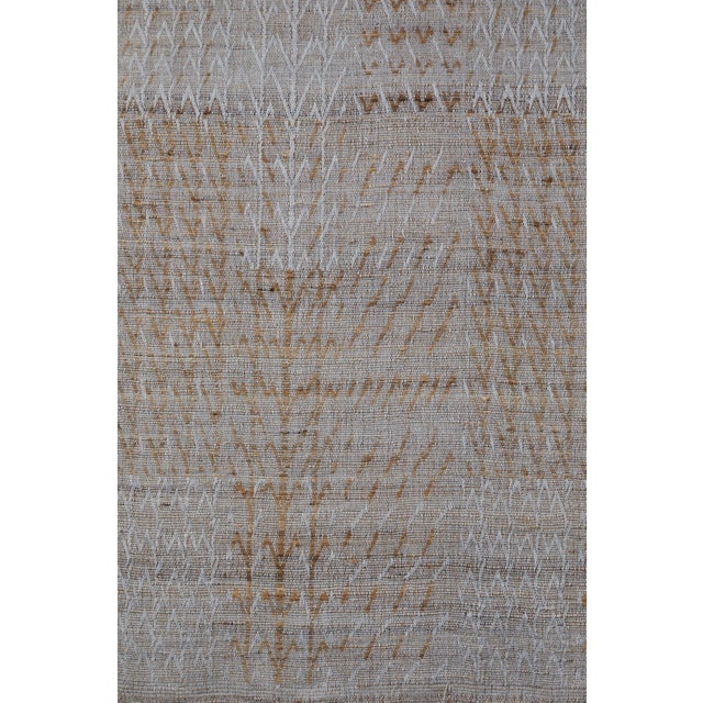 Indian Handwoven Bedcover Tree Pale Blue For Sale - Image 4 of 5
