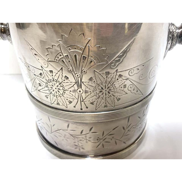Silver American Aesthetic Silver Plated Champagne/Ice Bucket, by Meriden Silver Co For Sale - Image 8 of 10