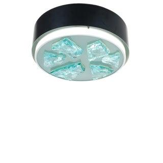 Raak Glass Flush Mount Lamp, 1960 For Sale