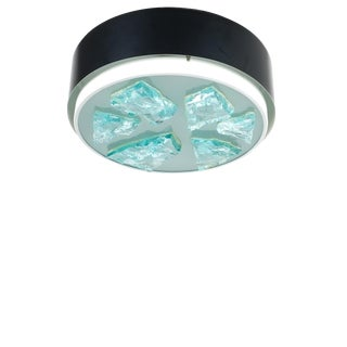 Raak Glass Flush Mount Lamp Style Fontana Arte, 1960