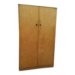 Vintage Art Deco Birdseye Maple Armoire c.1930s