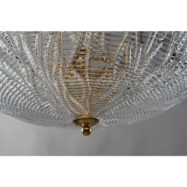 1960s Barovier and Toso Umbrella Form Fixture With Brass Fittings For Sale - Image 5 of 8