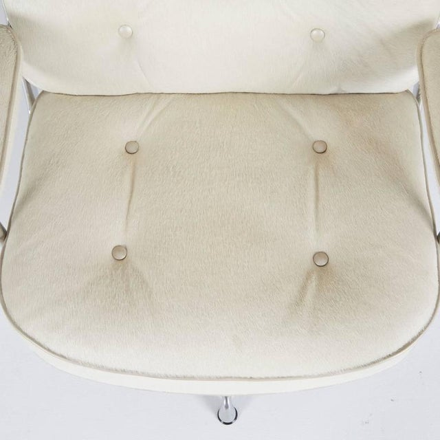 White Hair-On Hide Time Life Lobby Chairs by Eames for Herman Miller For Sale - Image 8 of 8