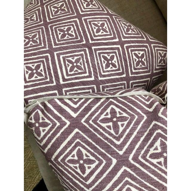 White Quadrille China Seas Designer Made Fiorentina Throw Pillows - a Pair For Sale - Image 8 of 13