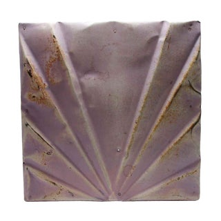 Antique Art Deco Lilac Tin Panel For Sale