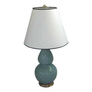 Transitional Gourd Lamp From Christopher Spitzmiller with Shade For Sale