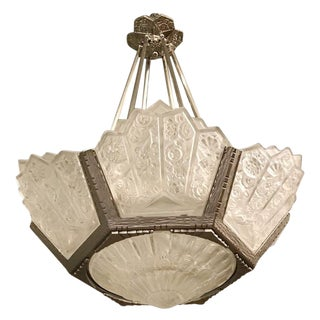 French Art Deco Chandelier by Hettier Vincent For Sale