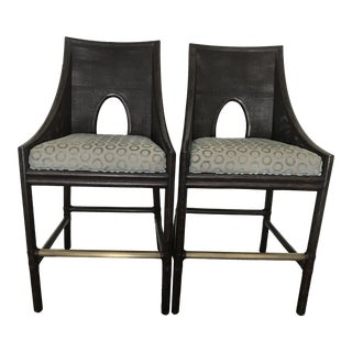 Modern Barbara Barry for McGuire Counter Stools- a Pair For Sale