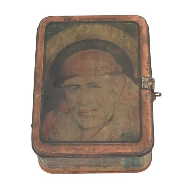 Vintage Indian Decorative Metal Lunch Box For Sale In Los Angeles - Image 6 of 6