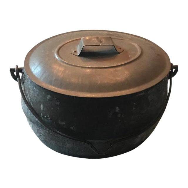 Vintage Large Rustic Cast Iron Dutch Oven - Image 1 of 9