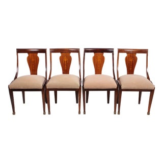 Regency Empire Style Chairs - Set of 4 For Sale