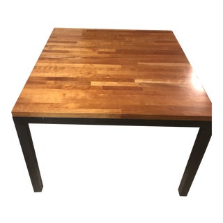 Contemporary Room & Board Natural Steel Cherry Wood Rand Table For Sale
