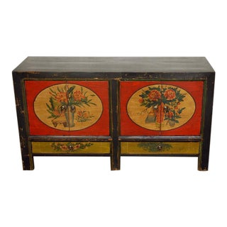 Mongolian Antique Elm Wood Sideboard