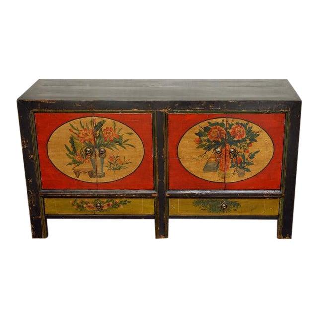 Mongolian Antique Elm Wood Sideboard - Image 1 of 3