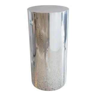 Vintage Paul Payen for Habitat Pedestal in Polished Aluminum For Sale