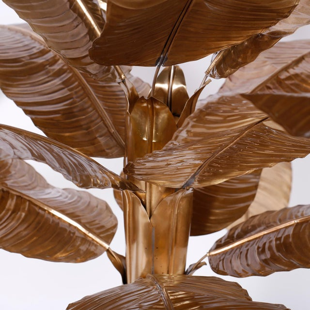 Brass Midcentury Brass Palm or Banana Tree For Sale - Image 8 of 9