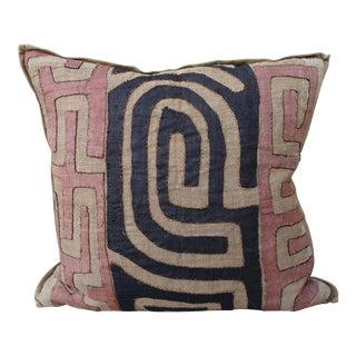 Large African Kuba Cloth Pillow