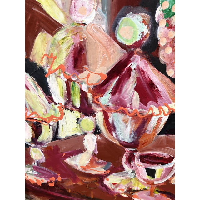 Abstract Candy Jar Oil Painting For Sale - Image 4 of 9