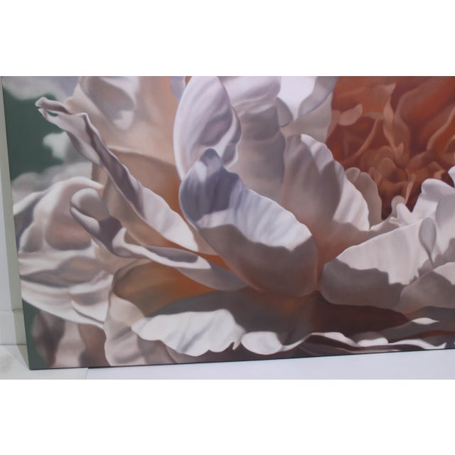 """Pink Vintage Winifred Godfrey Painting """"Pale Peony"""" For Sale - Image 8 of 13"""