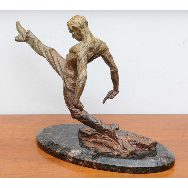 Bronze Richard Macdonald Suspension Flamenco Sculpture--2002 USA For Sale - Image 7 of 10