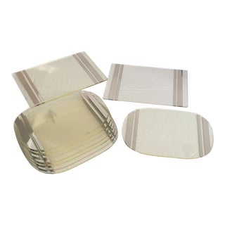 Vintage 1970s Lucite & Mirror Placemats - Set of 10 For Sale