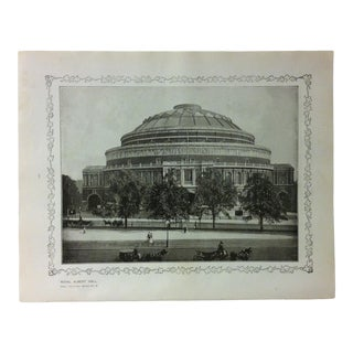 """1906 """"Royal Albert Hall"""" Famous View of London Print For Sale"""