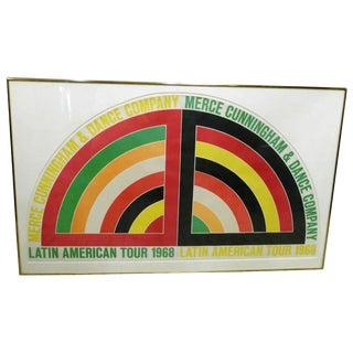 Frank Stella Poster for Merce Cunningham, 1968 For Sale